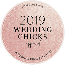 2019 Wedding Chicks Approved Badge